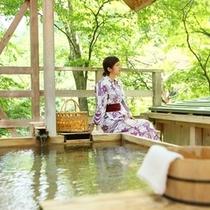 ◆天空の小鳥風呂【角】 貸切露天でごゆっくり