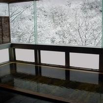 ◆大浴場 冬は雪を眺めながらごゆっくり