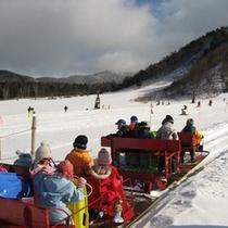 ◆山田温泉スキー場 子供たちが喜ぶトロイカ