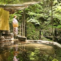 ◆仙人露天岩風呂 150段の階段を下りた先にございます