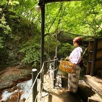 ◆仙人露天岩風呂 松川渓谷の流れる音を聞きながら