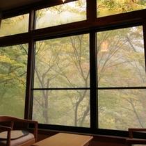 ◆お部屋から望む松川渓谷の紅葉