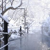 ◆仙人露天岩風呂 幻想的な雪見風呂