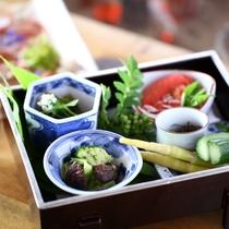◆朝日屋亭のお料理 その日の旬の食材を使用しているため日によってメニューが変わります