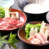◆【スタンダードプラン】ご夕食 選べる鍋【信州米豚の豆乳鍋】と【信州ハーブ鶏鍋】