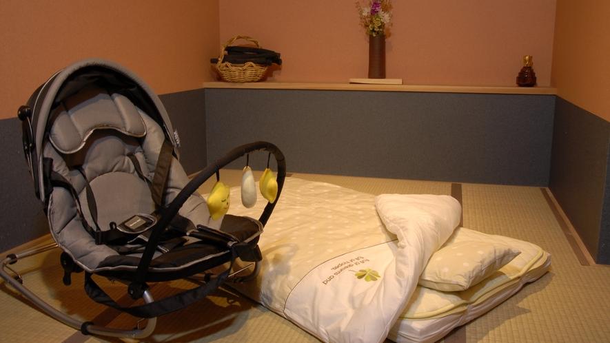 バウンサーと赤ちゃん用のお布団もご用意いたします