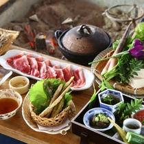 ◆朝日屋亭のお料理 ジビエ料理一例