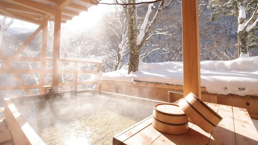 【天空の小鳥風呂】<角>冬の朝