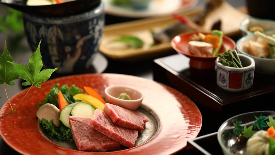 「贅沢ご飯」信州プレミアム牛の陶板焼き