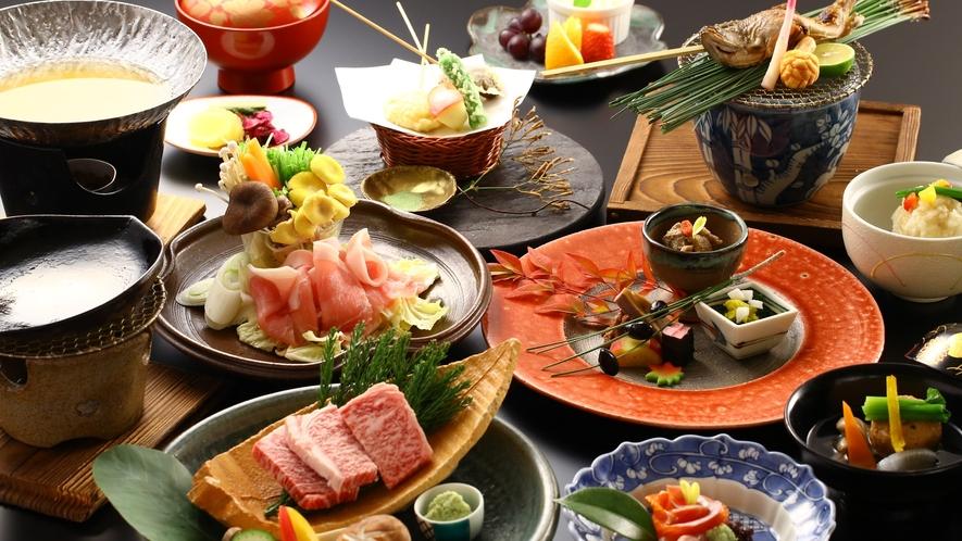「贅沢ご飯」ご夕食一例(冬)