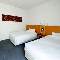ツインルーム ベッド幅120㎝×2台 26㎡