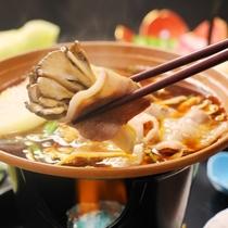 陶板焼き♪片品産舞茸も入ってます。