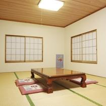 和室12畳のお部屋になります。