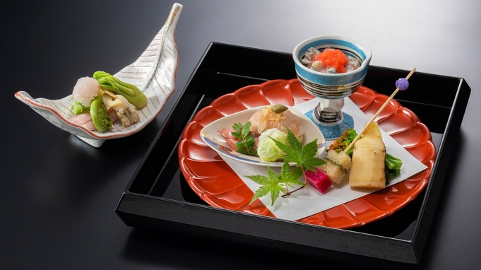 【スタンダード】季節の懐石料理と石庭園〜食事はプレミアムダイニング雲珠で〜