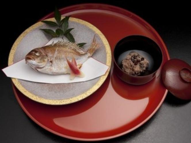 祝鯛と赤飯