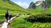 秋田駒ヶ岳 十和田八幡平国立公園の南端。標高1,637m高山植物の豊富 登山入口迄公共バスで約45分