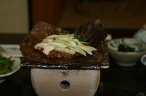 朴葉みそ(朝食)