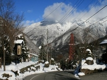 福地温泉の街路