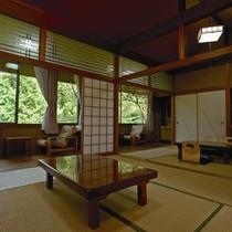 【離れ客室】あじさい・やまぶきの2部屋がございます。室内にトイレ・洗面等も設置してあります。