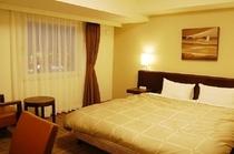 ダブルルーム。160cm幅のゆったりベッド♪お部屋も広々です♪