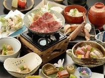 カニ海鮮付きすき焼き膳