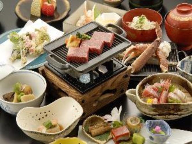 カニ海鮮焼き付きステーキ膳
