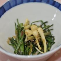 *料理一例/季節の山菜を使ったお料理が好評。