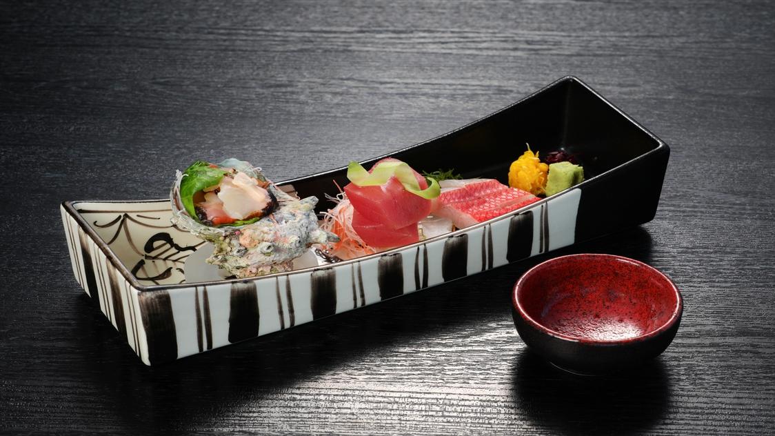 【夕食】お造り〜地魚盛り合わせ〜
