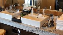 貸切風呂も1時間毎に清掃。衛生グッズの設置。