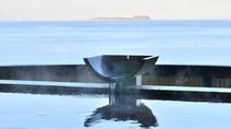【貸切風呂~薫~】遮るものなく目の前に広がる大海原は圧巻でございます。