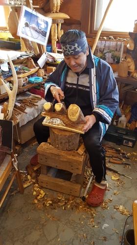 アイヌ地方木彫りショー