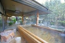 庭園露天風呂(檜湯)