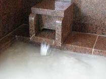 大浴場の白濁湯