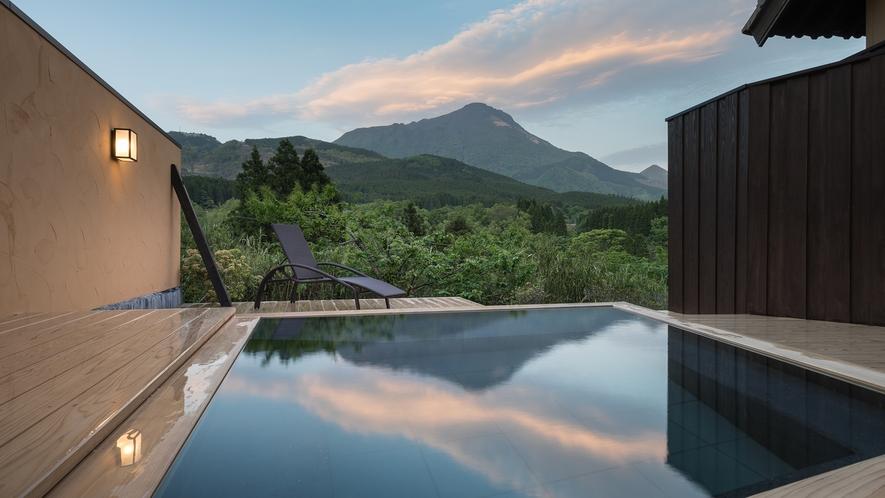 ■貸切家族風呂■雄大な由布岳に抱かれる極上の休日をお愉しみください。