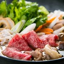 【すき焼き】割りの甘辛さとおおいた和牛の甘みが絶妙な組み合わせ