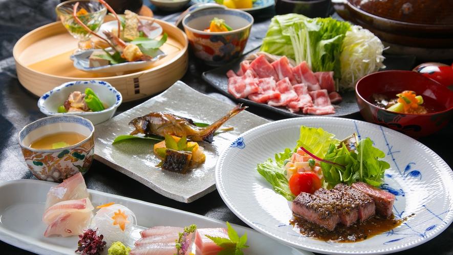 ■夕食イメージ■素材一つひとつの美味しさを追求した「和懐石」を、美しい器とともにご堪能いただけます。