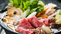 ■夕食イメージ■【すき焼き】割り下の甘辛さとおおいた和牛の甘みが絶妙な組み合わせ