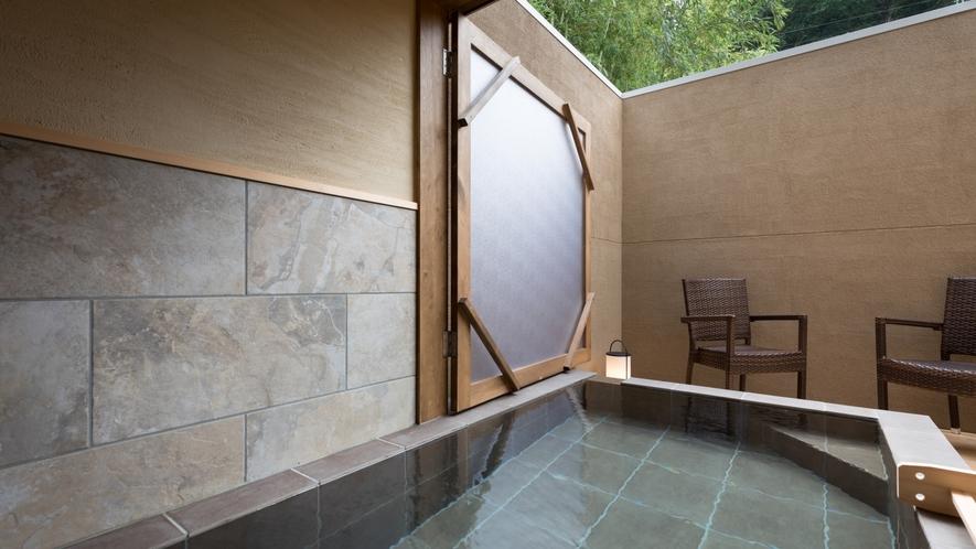 ■別邸藤黄■半露天風呂■自家源泉100%かけ流しの温泉をいつでもお愉しみいただけます。