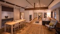 ■別邸月白■122平米の室内に半露天風呂付客室