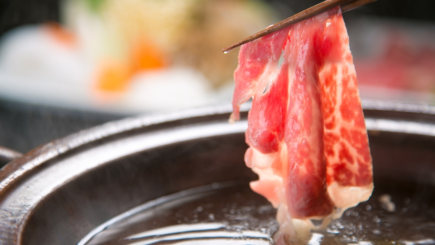 ■夕食イメージ■【しゃぶしゃぶ】料理長厳選の国産黒毛和牛の自然な甘味を味わう