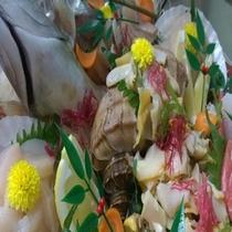 2015夏つぶ貝とシマアジお造り