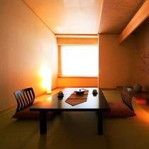 ■和室7~8畳■畳の香りが優しく、裸足で寛ぐ安らぎの空間。(Wi-Fi無料)