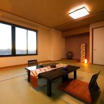 ■和室14畳■畳の香りに包まれ、自然と心が癒される空間。大切な人との会話も弾みます。(Wi-Fi無料