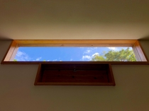 天窓から眺める空