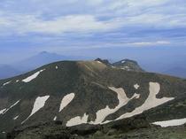 残雪の安達太良山頂