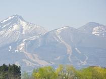 磐梯山の雪どけ