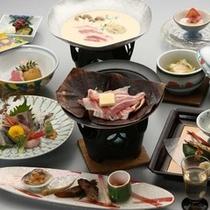 春の会席料理飛騨ぶた朴葉味噌イメージ