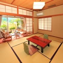 露天風呂付き客室【山水亭】一例