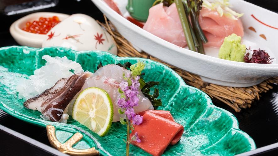 **【夕食一例:御造里】駿河湾の新鮮な海の幸をお楽しみください