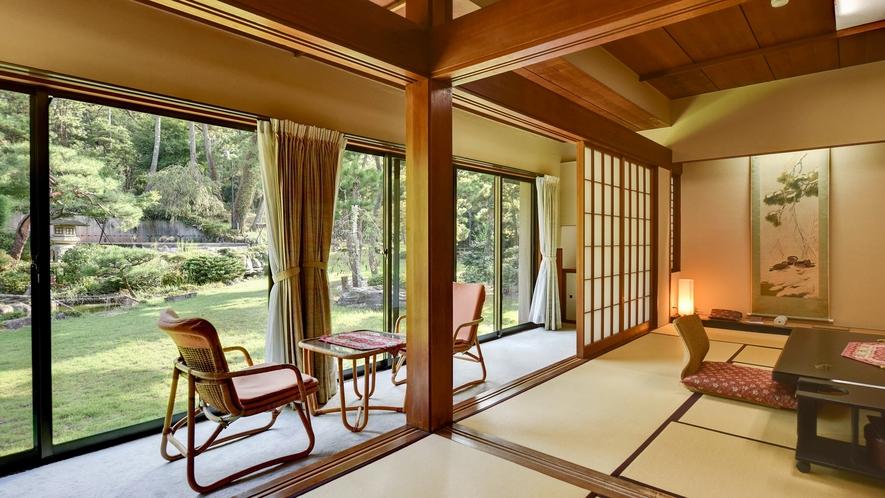 **【雅:1階】典雅な日本庭園が目の前に広がる、折々の旬の風情が漂う数奇屋風のお部屋です